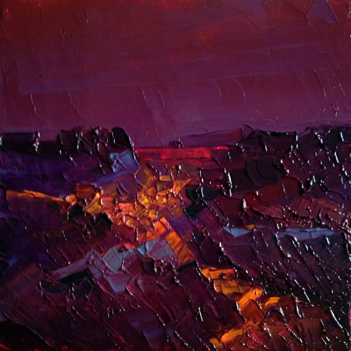 Cabo de Gata. 2019 óleo espátula lienzo 16 x 15 cm. http://bohemiogus.blogspot.com