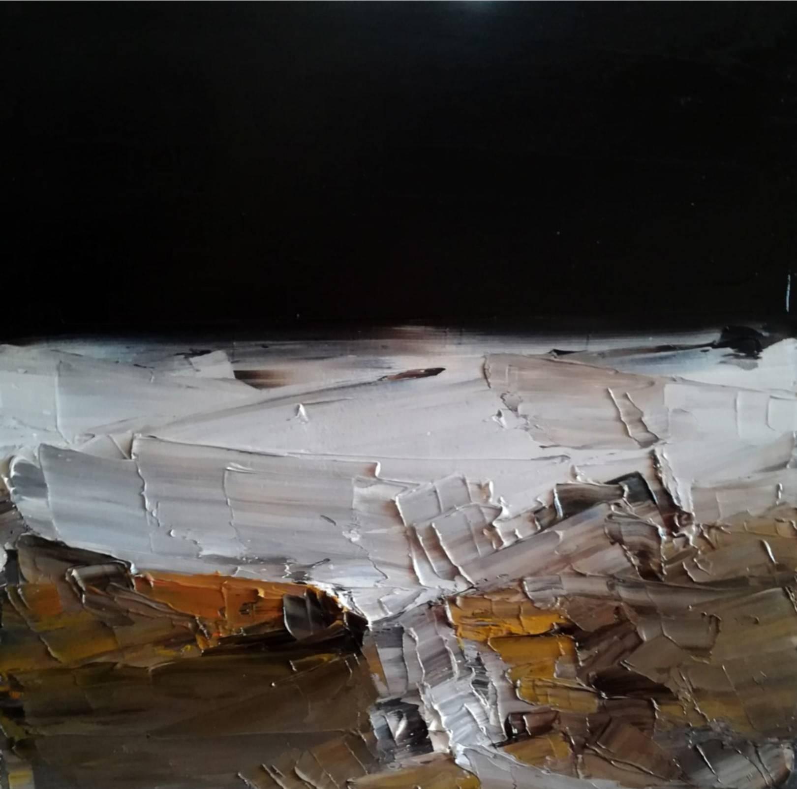 Moonlight. 2019 óleo espátula lienzo 21.5 x 21.5 cm. http://bohemiogus.blogspot.com