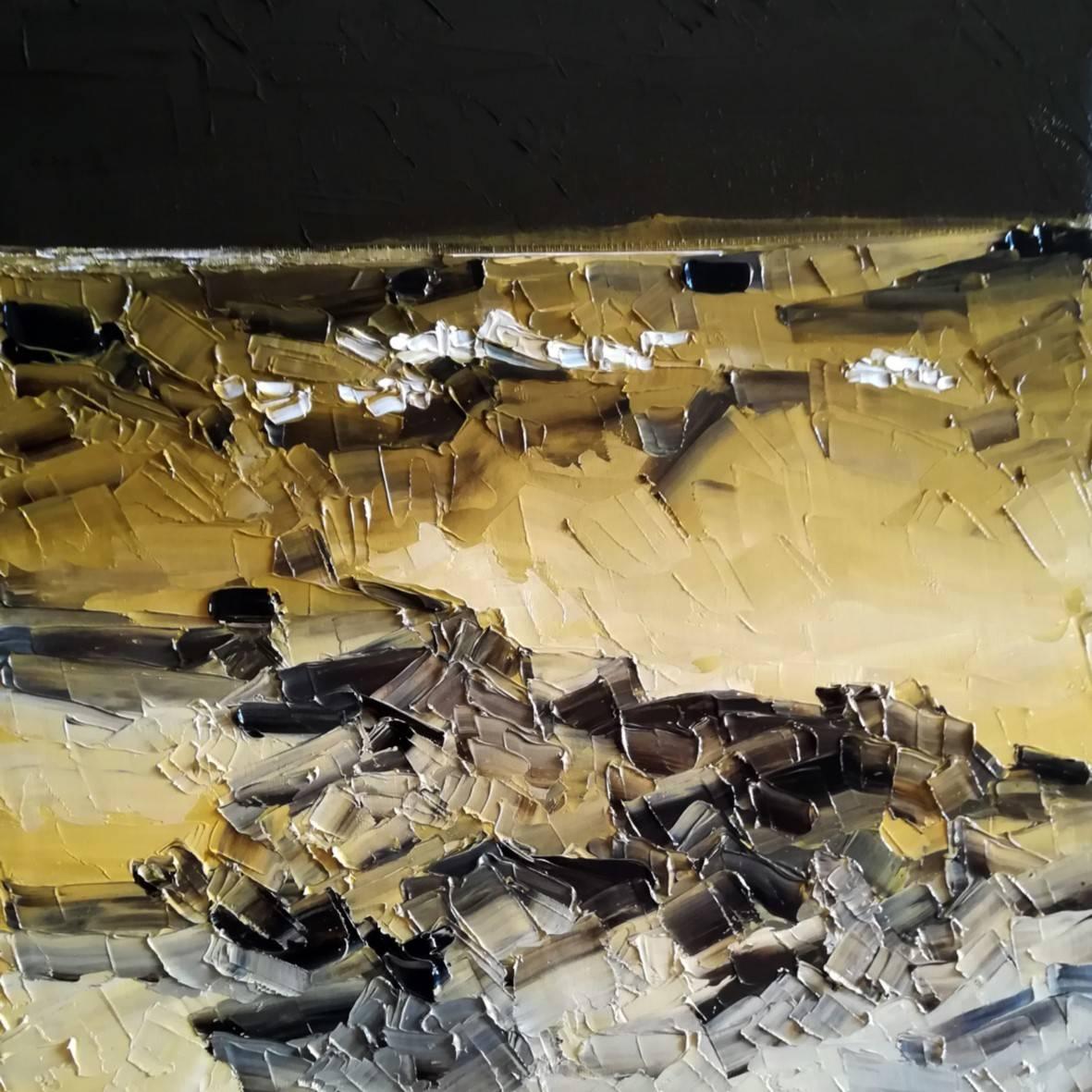 Campohermoso in. 2019 óleo espátula lienzo 31 x 31 cm. http://bohemiogus.blogspot.com