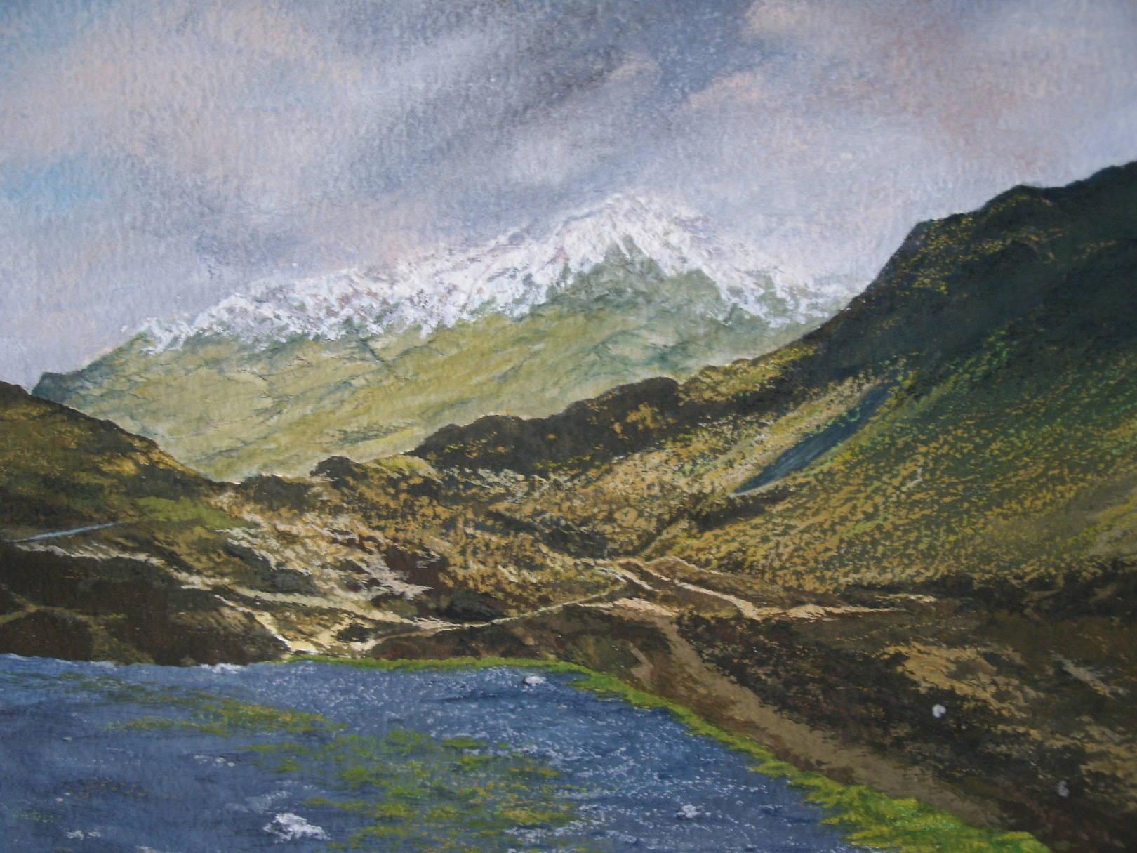 Title: Up on a Mountain Top  Ben Nevis Mountain range, Scotland