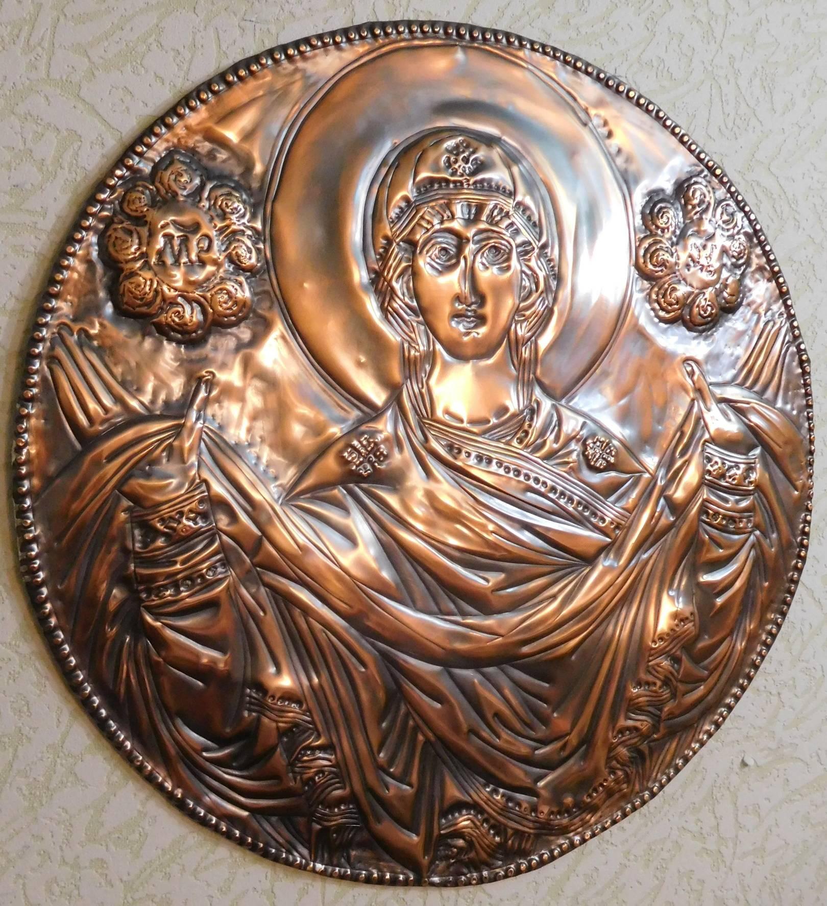 Покров Пресвятой Богородицы,медь,580 х 580