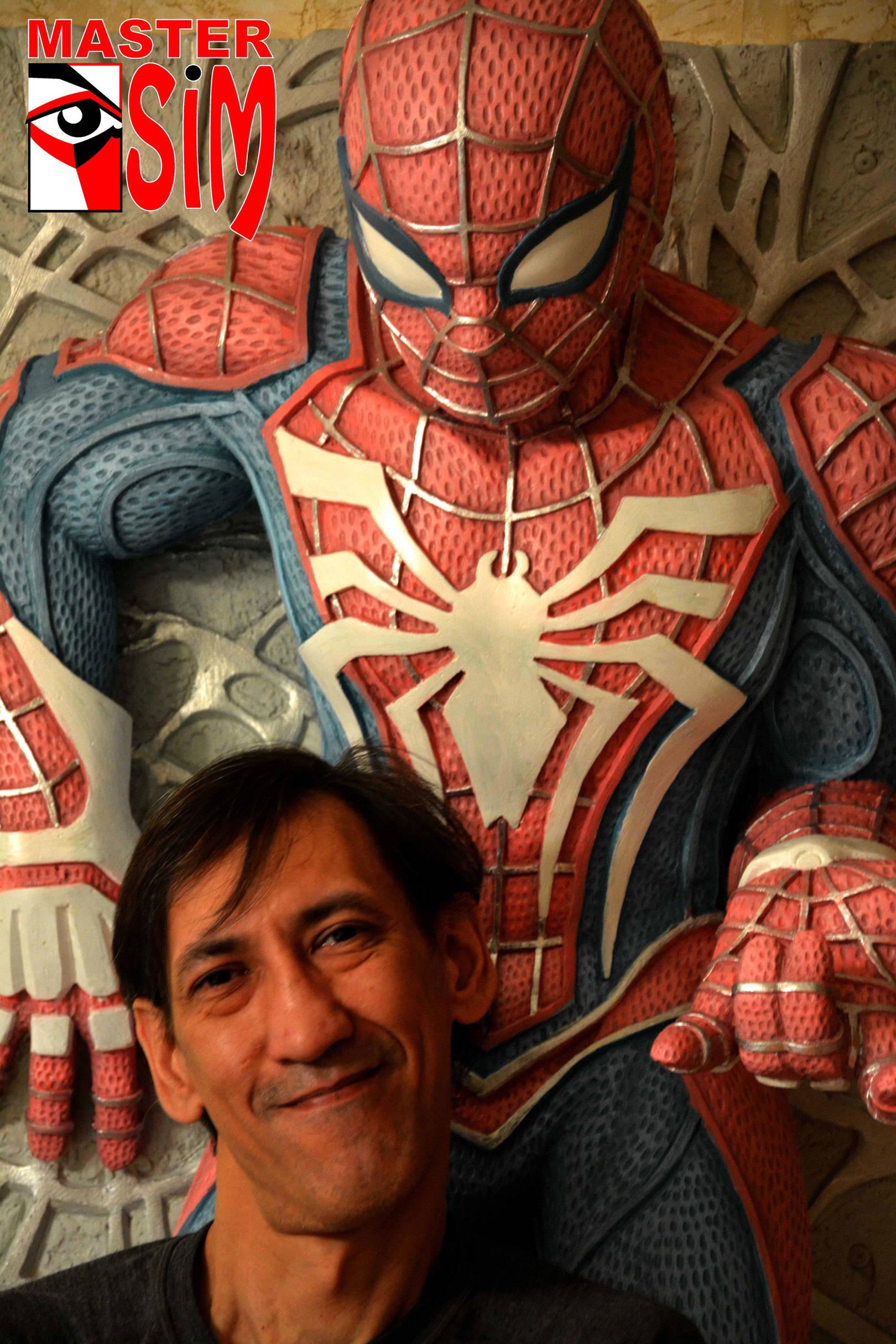 Скульптура Человек паук.