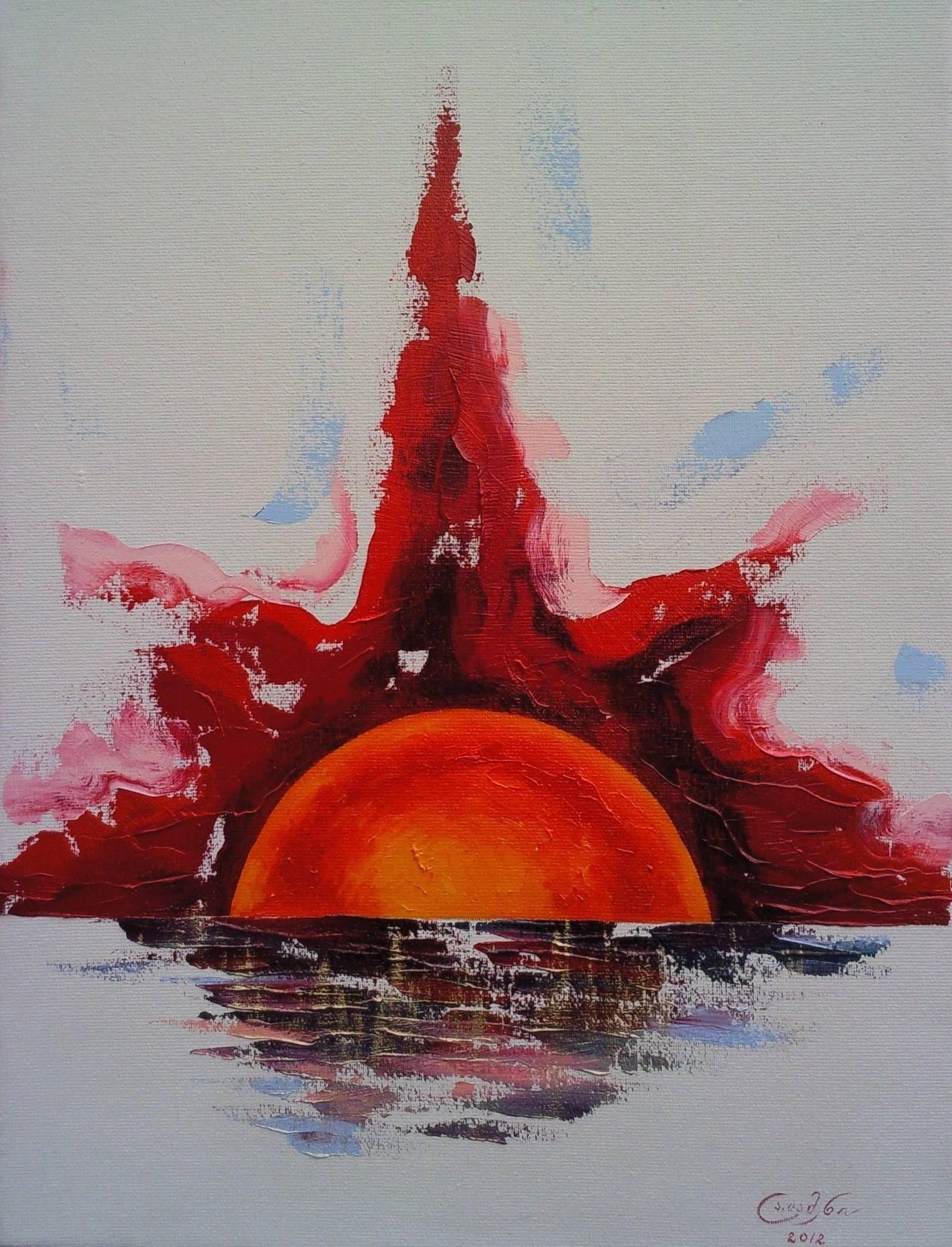 «Восход» холст, масло «Sunrise» oil on canvas                                                    80x60,  2012