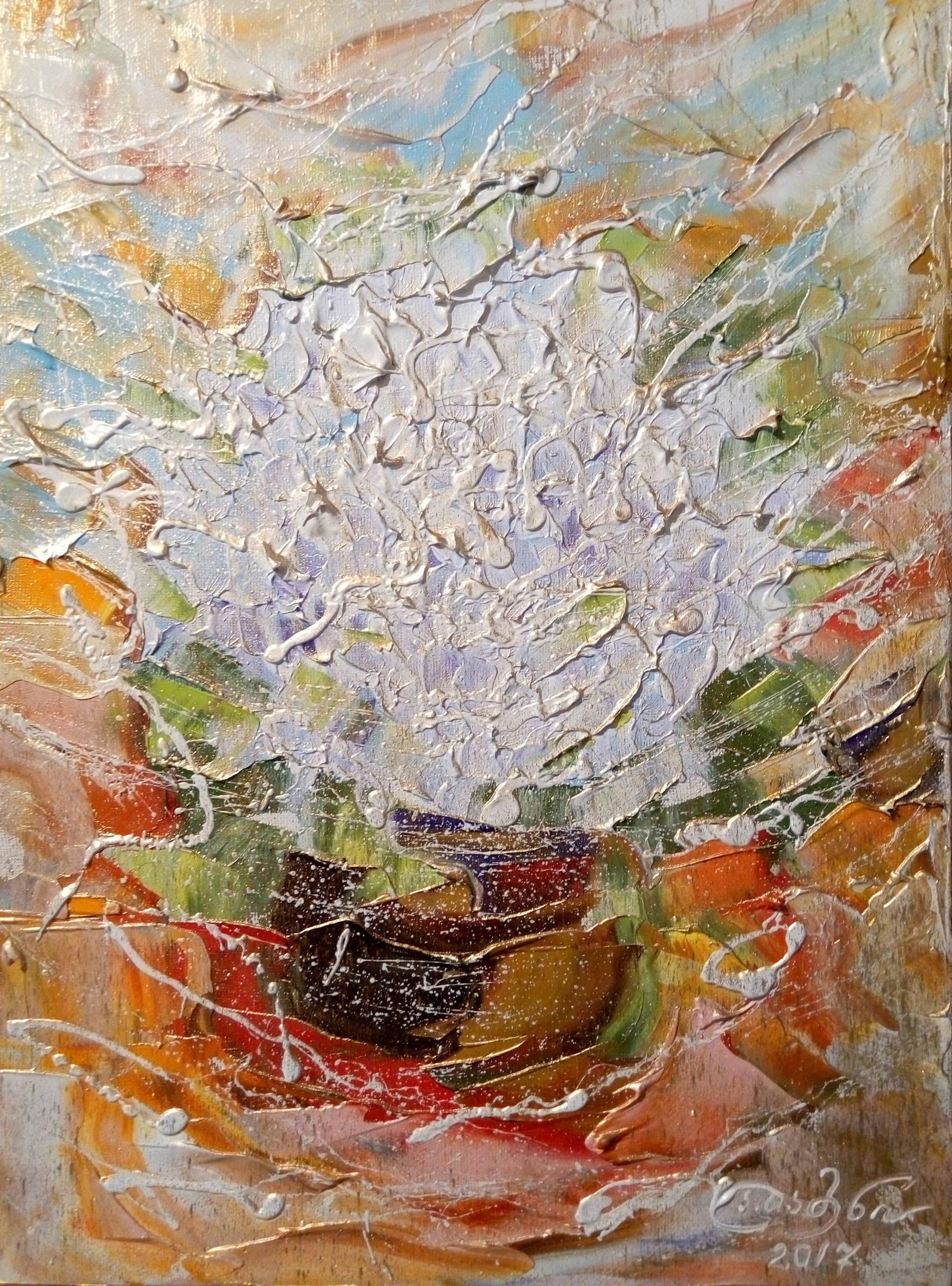 «Райские цветы»  холст, масло «Paradise flowers» oil on canvas  40x30, 2017