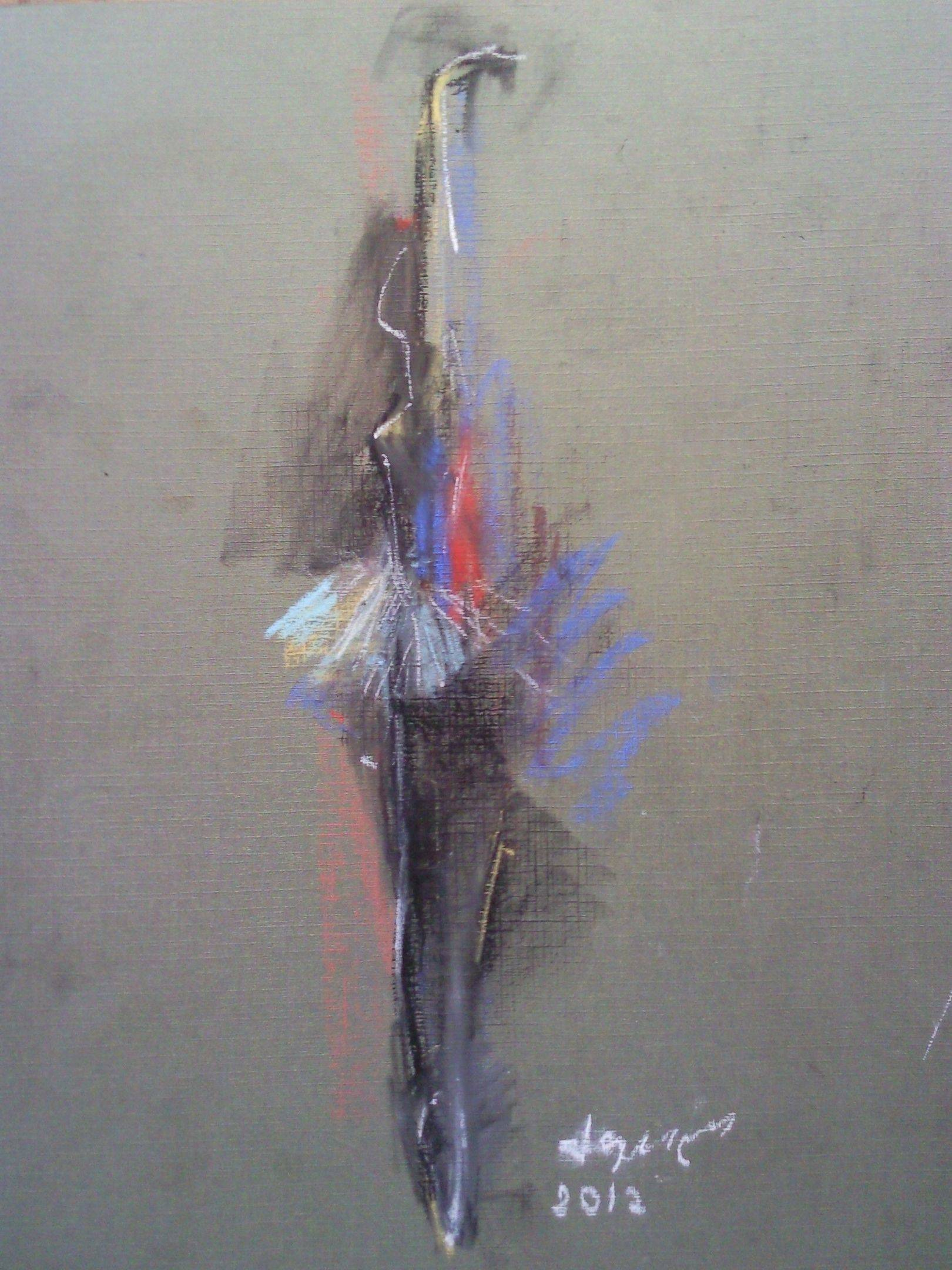 «Балерина»     бумага, пастель «Ballerina»       paper, pastel           25x20, 2012