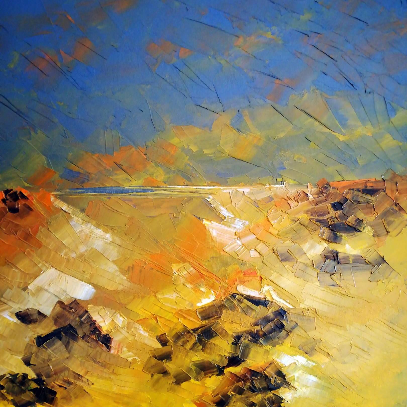 """The green cottage."" Sierra de Cabo de Gata. oil spatula canvas.  39.5 x 39.5 cm. http://bohemiogus.blogspot.com/ http://www.facebook.com/atomista"