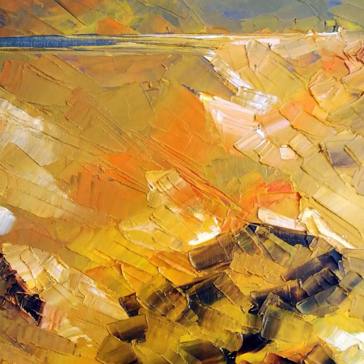 """""""The green cottage."""" Sierra de Cabo de Gata. oil spatula canvas. Details. 39.5 x 39.5 cm."""