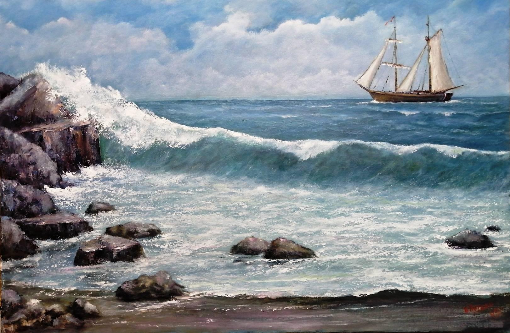 Море. 80 х 100. Холст,масло.