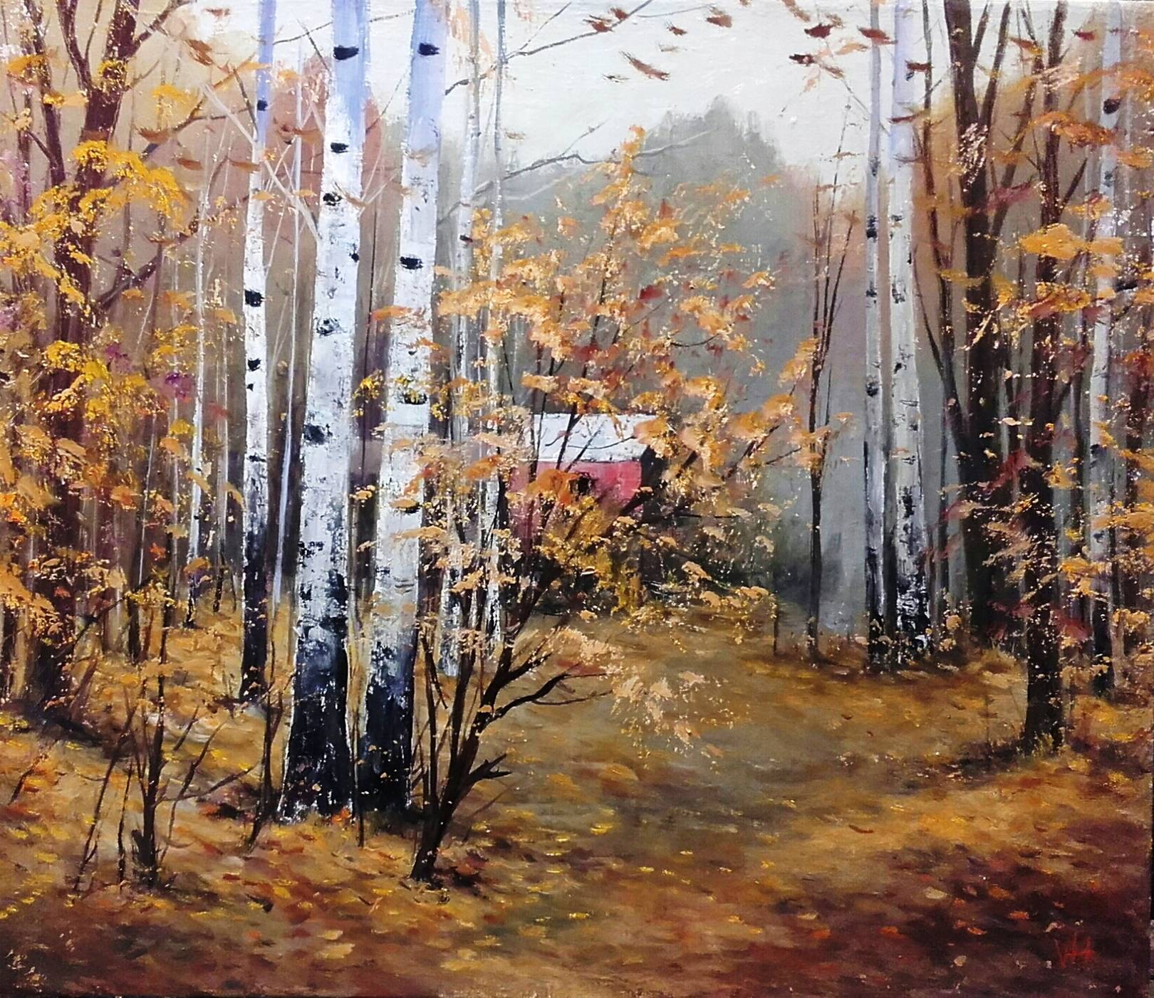 Осенний пейзаж. 70х70. Холст, масло