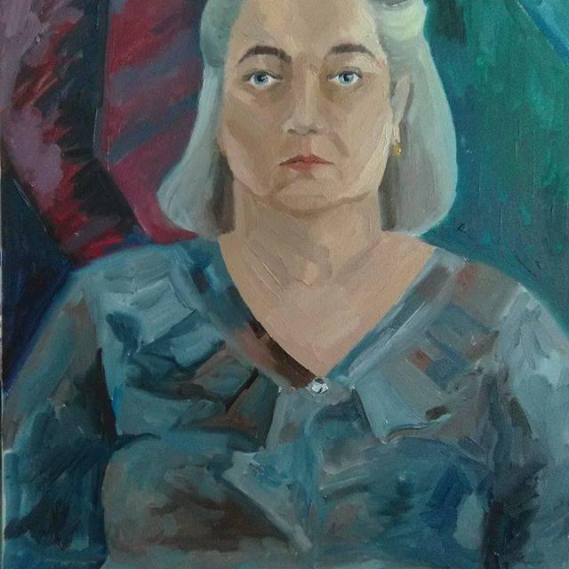 Портрет Тёти Любы. Холст 50/70, масло.