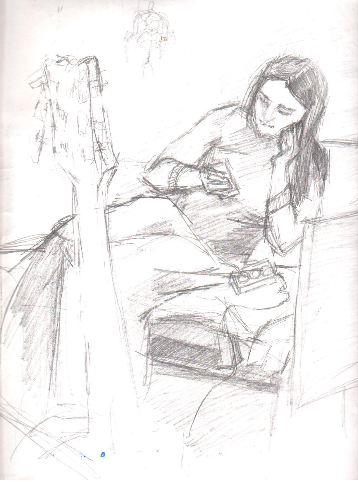 соседка Вика Из всех моих попыток её нарисовать, в этой она получилась  похожей.