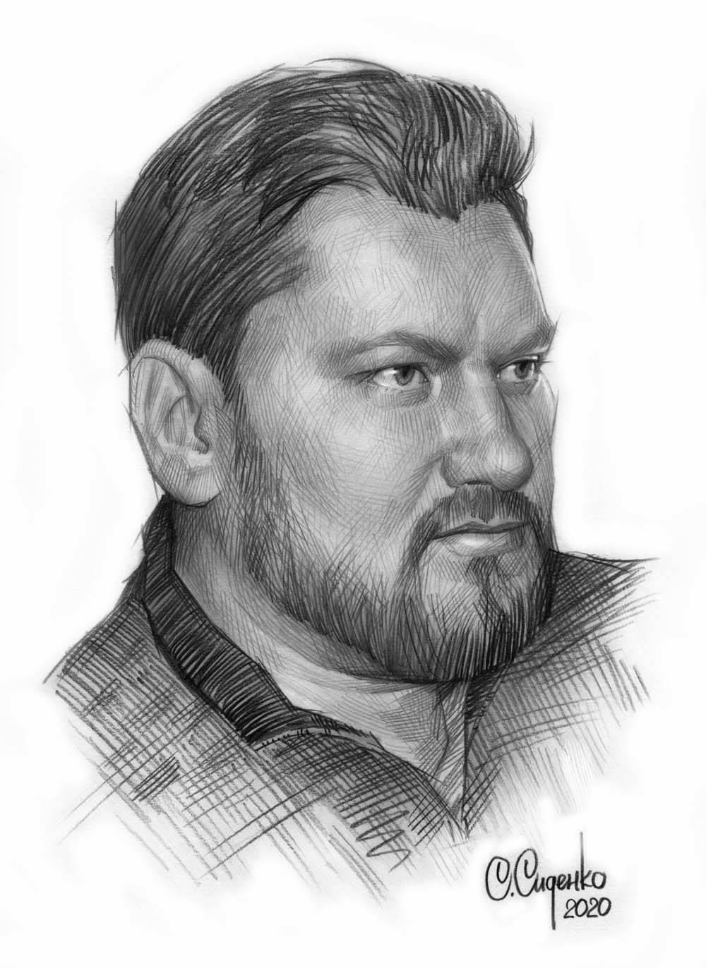 Портрет художника П.В. Рыженко