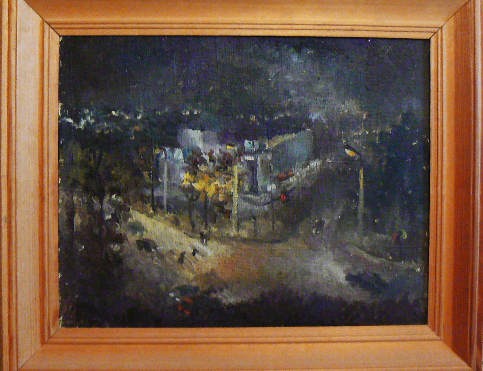 Улица Студенческая ночью