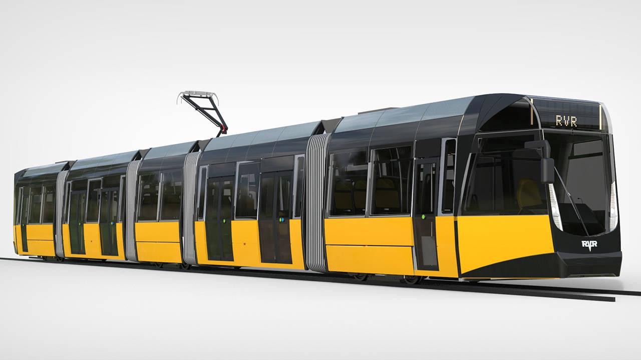 2015 год. Линейка низкопольных трамваев RVR-8 (Латвия).