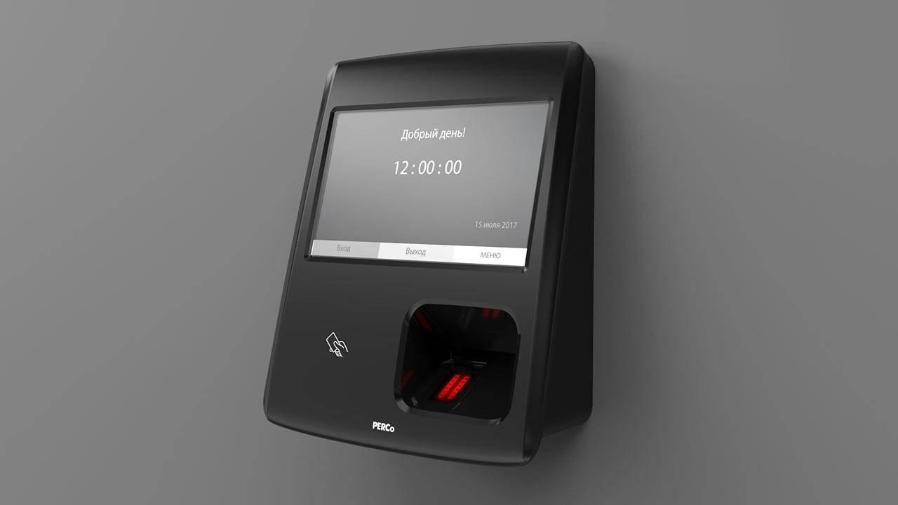 2016 год. Биометрический терминал учета рабочего времени PERCo CR11 (Россия).