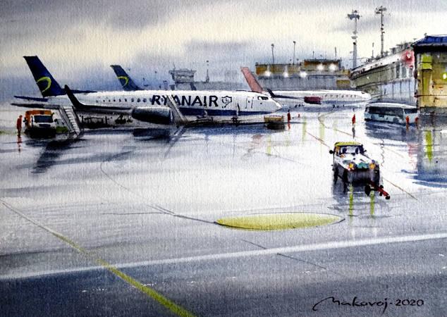 ,,После дождя ...всегда появляется солнце,, Акв.мастер-класс на бум.DMD watercolor paper,360 гр.латвийского производства.