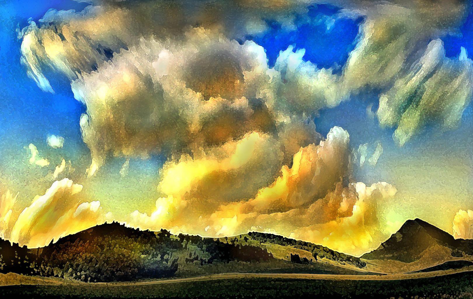 Между небом и землей.