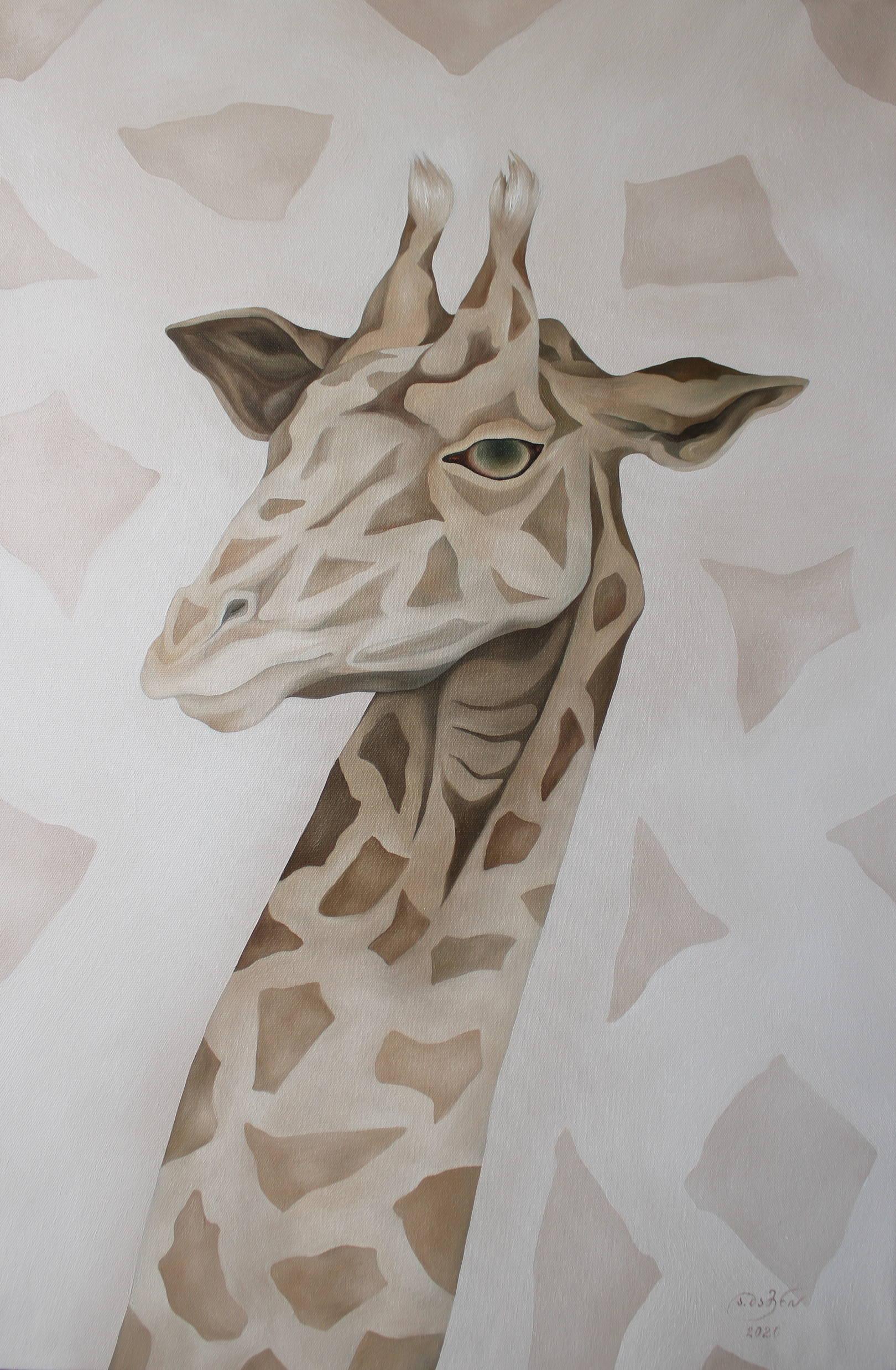 «Жираф — достижение недостижимого» холст, масло «Giraffe - achieving the unattainable» oil on canvas  90x60, 2020