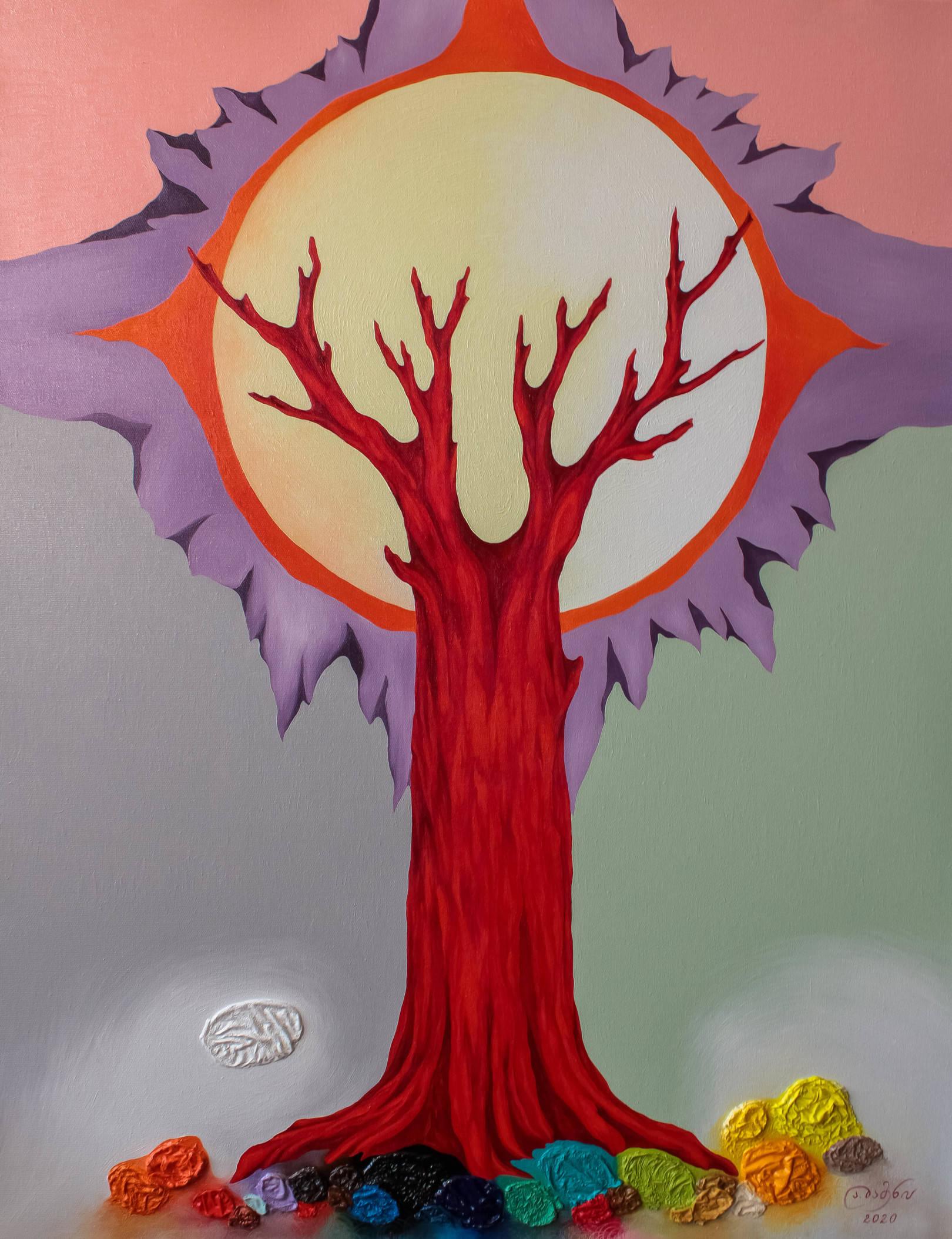 «Древо Жизни»     холст, масло «Tree of Life»     oil on canvas    90x70, 2020