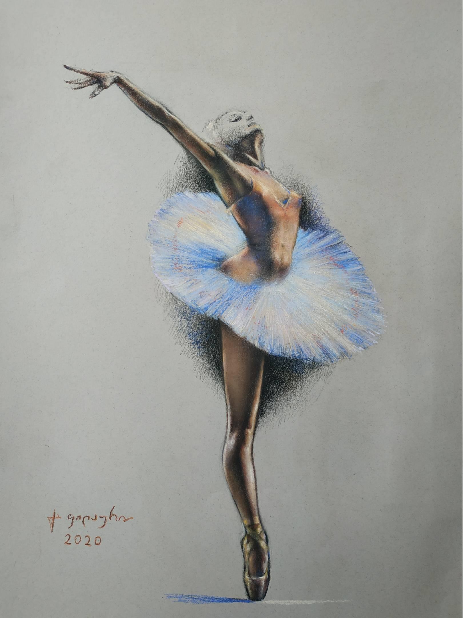 «Балерина»      бумага, пастель «Ballerina»        paper, pastel 68x49, 2020