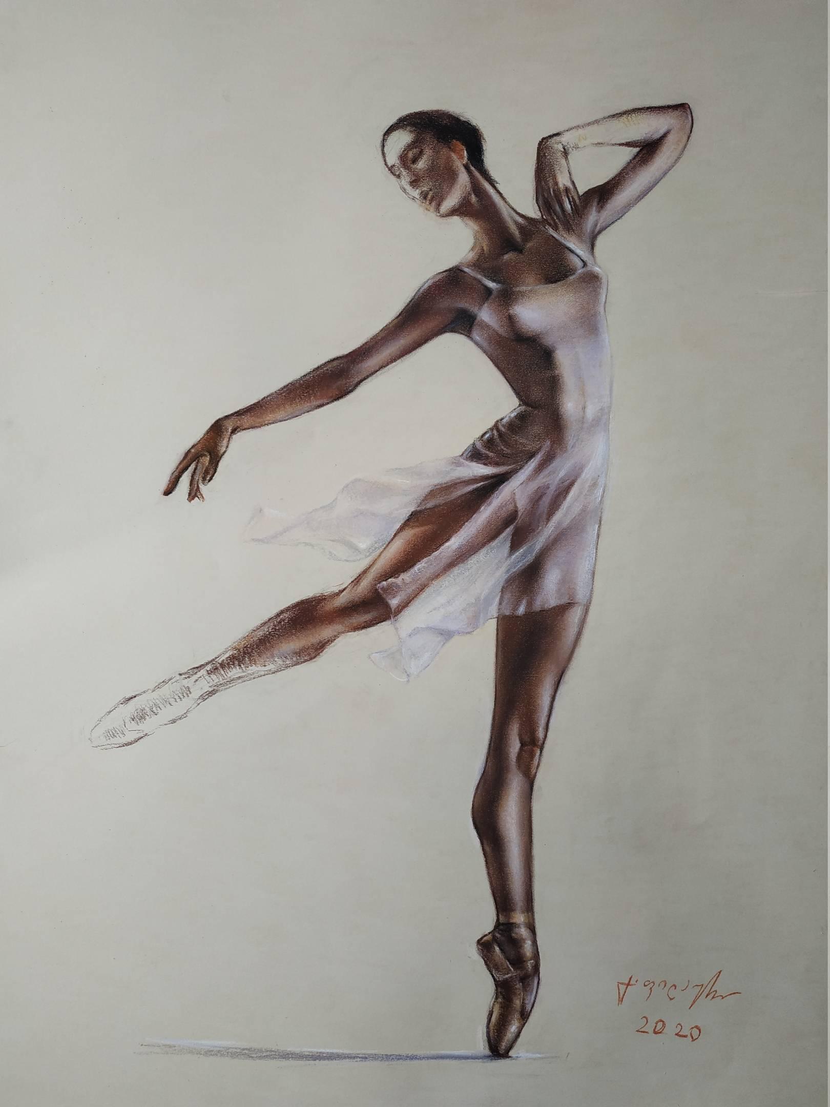 «Балерина»        бумага, пастель «Ballerina»          paper, pastel  68x50, 2020