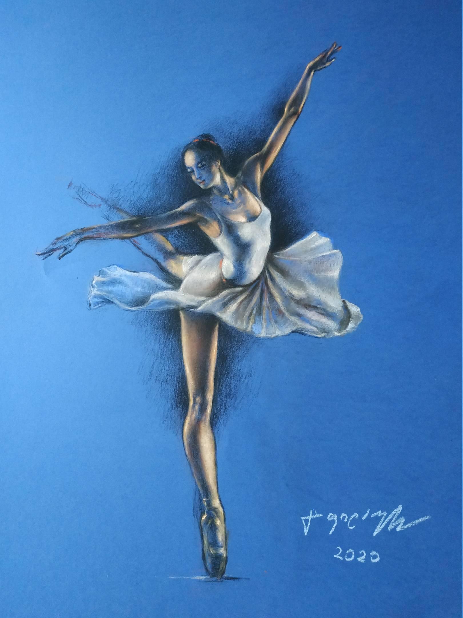 «Балерина»        бумага, пастель «Ballerina»          paper, pastel  70x50, 2020