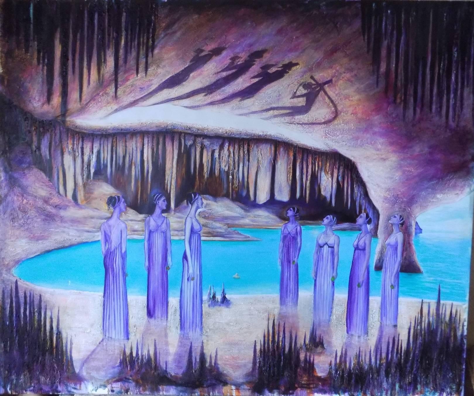 Myht of the cavern. 130cmx160cm. oil on canvas