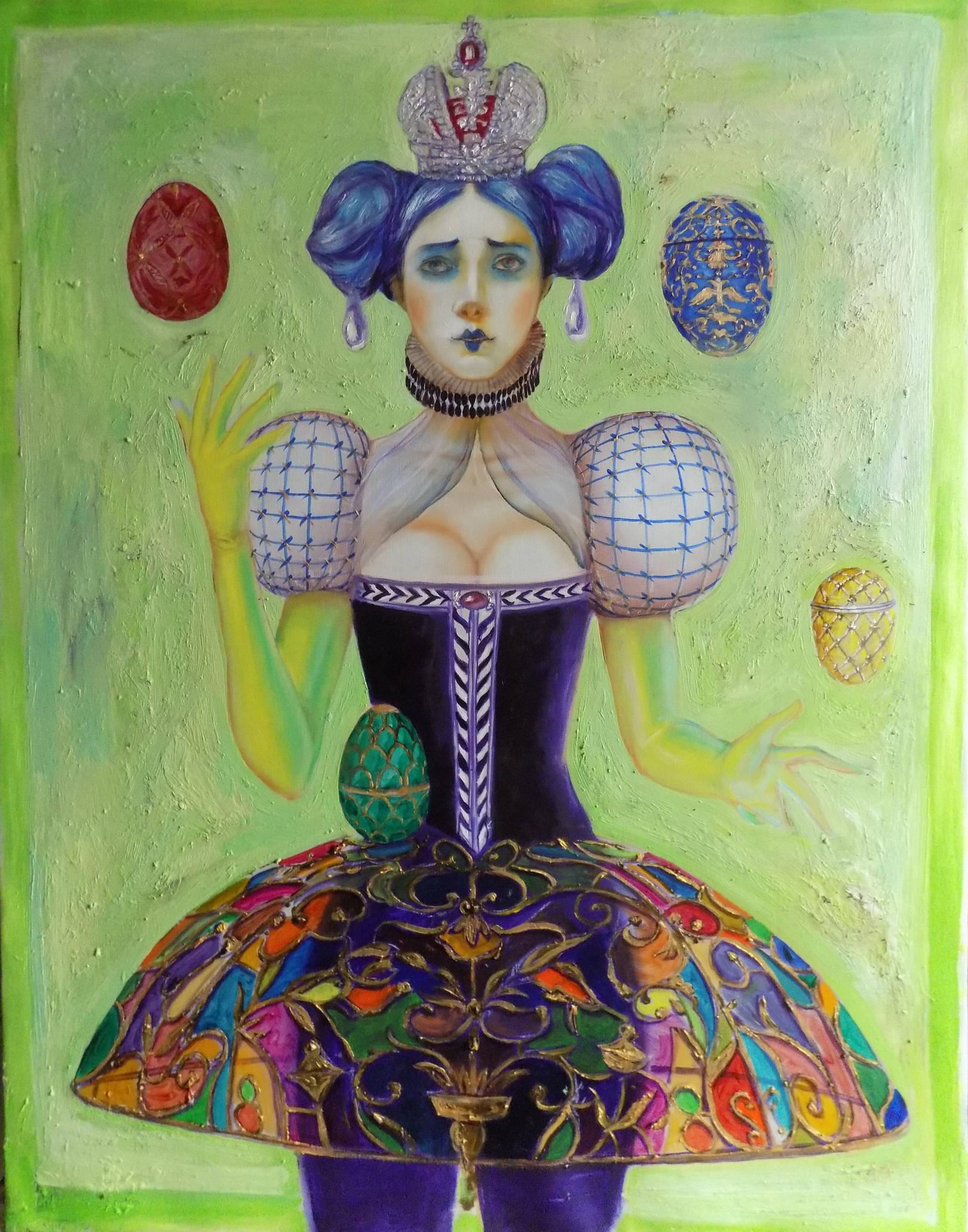 Faberge. circus. 100cmx49cm