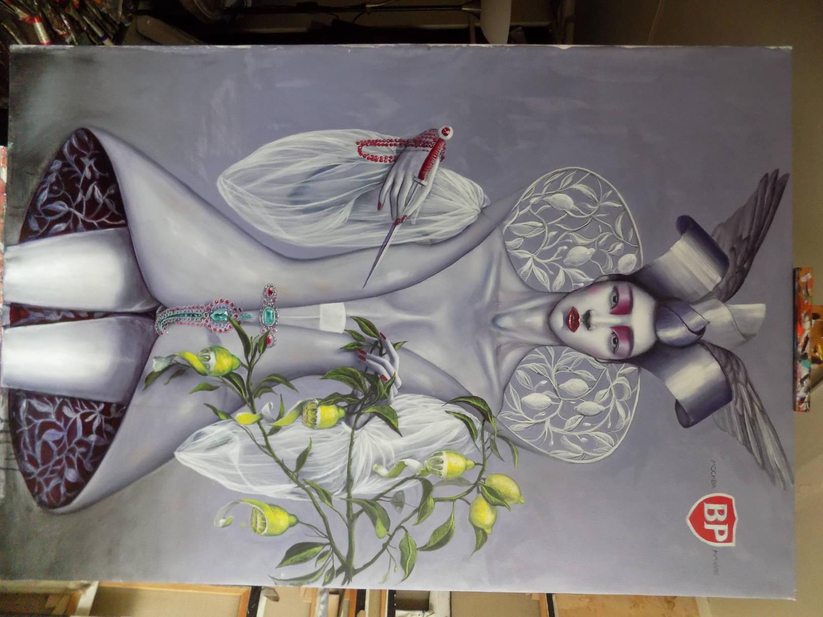 Lemon incest. 114x141cm. oil