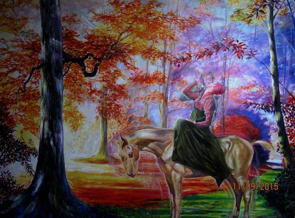 Pouchkine s ghost. 130 x160cm oil