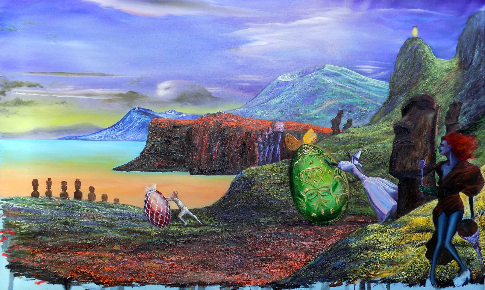 week end at the  Eater island   130x97cm