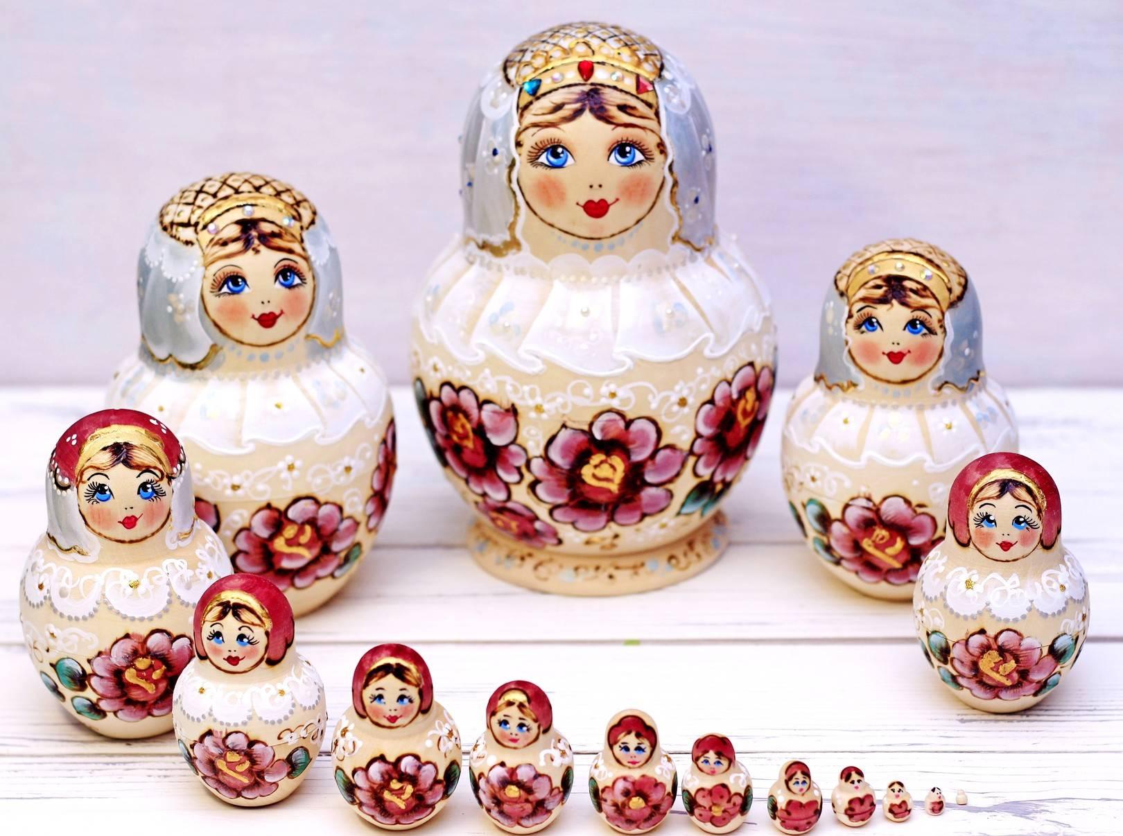 Матрешка свадебная Принцесса - Matryoshka wedding princess