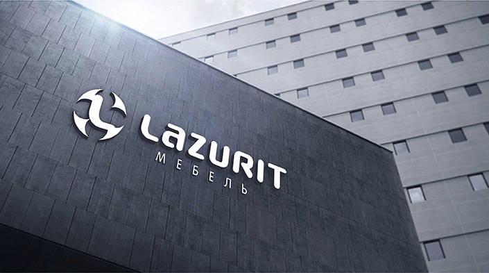 Логотип компании по производству мебели LAZURIT