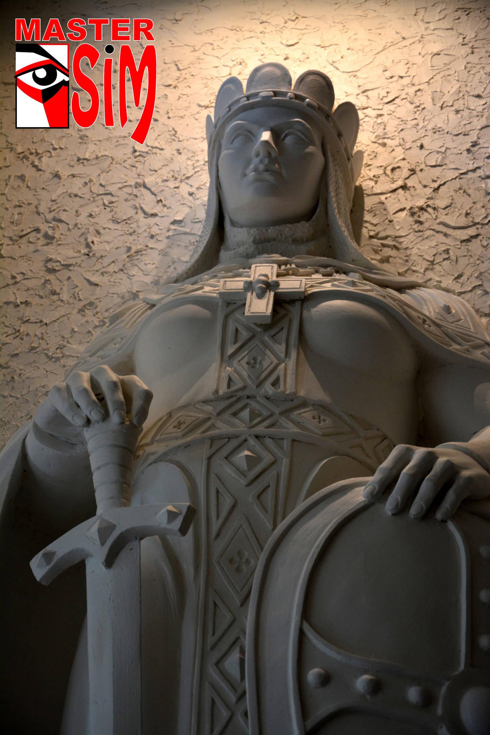 Барельеф (горельеф) Княгиня Ольга. (Псков). В Санкт Петербурге.