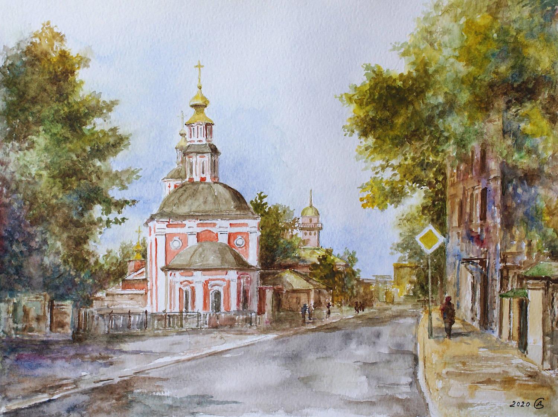 Москва, Николоямская улица - бумага/акварель, 24х32, 2020