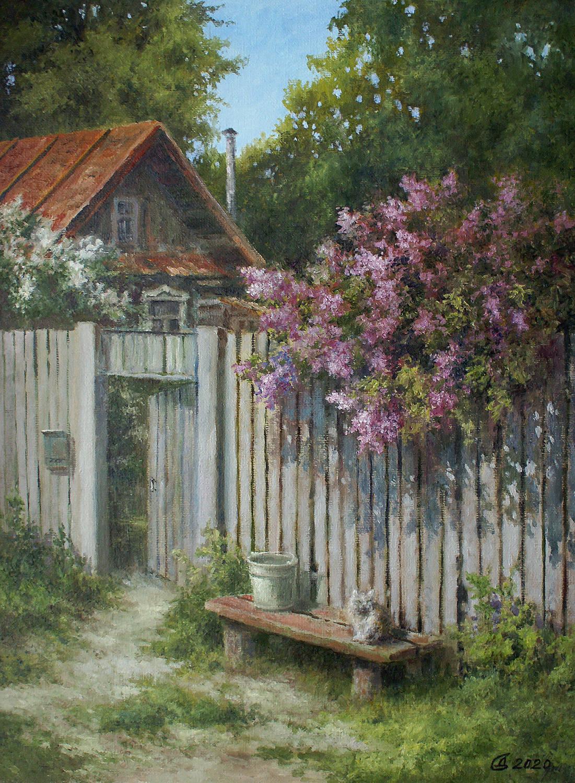 Деревенская весна - холст на картоне/масло, 40х30, 2020