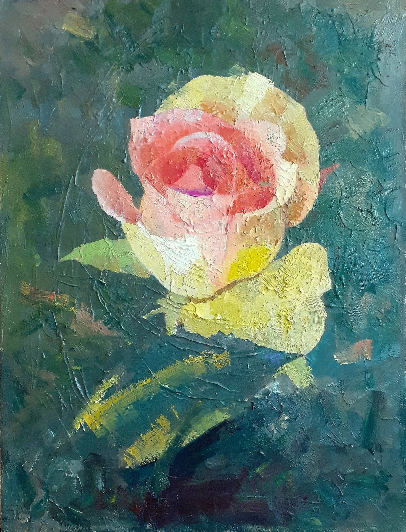 «Роза» холст, масло, 60х45 см, 2020