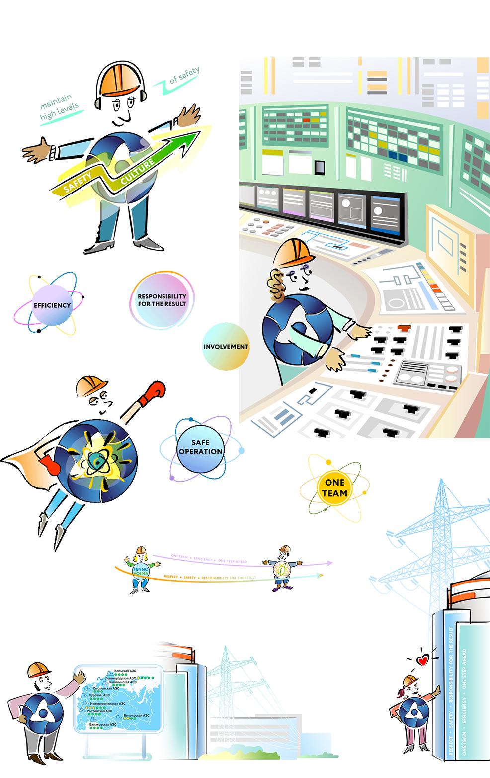 Иллюстрации для оформления сайта