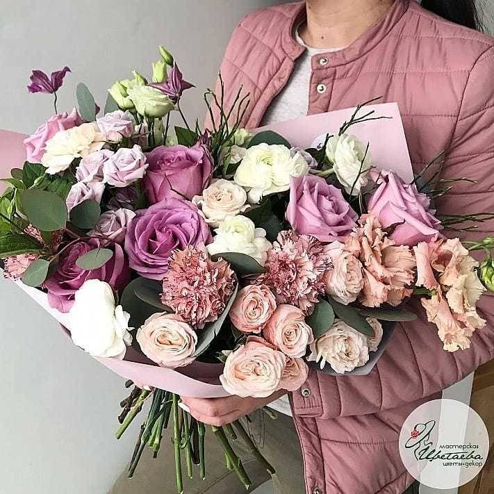 """Букет цветов Via dei Fiori послуживший образцом для создания цикла работ """"Цветы для любимых""""."""