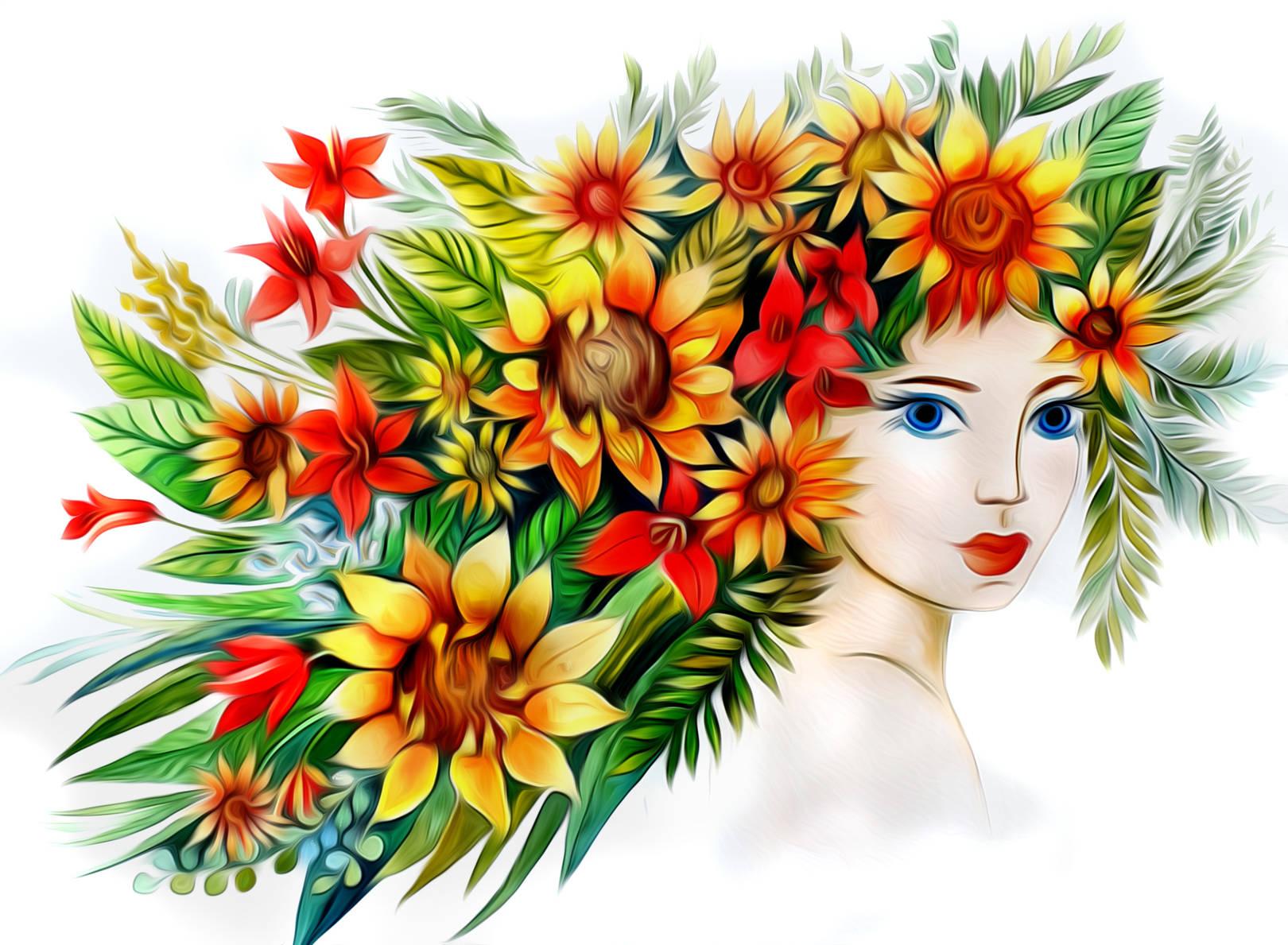 Девы цветочные.