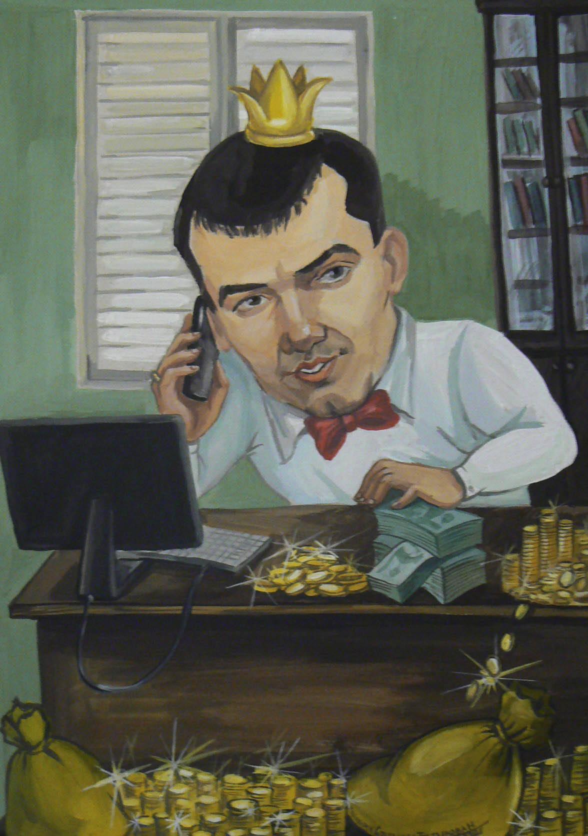 Шарж на экономиста
