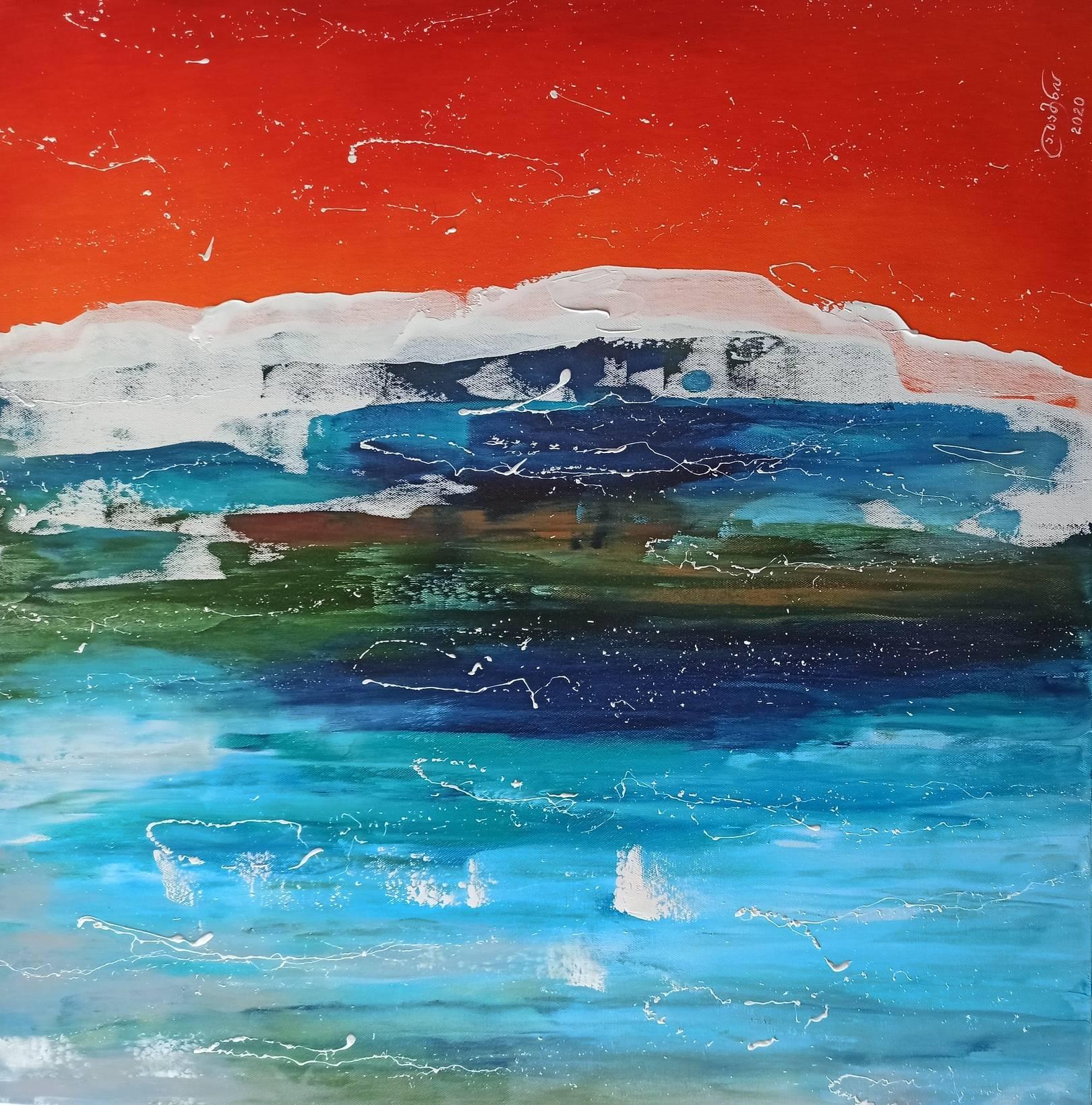 «Море»       холст, масло «Sea»    oil on canvas    80x80, 2020