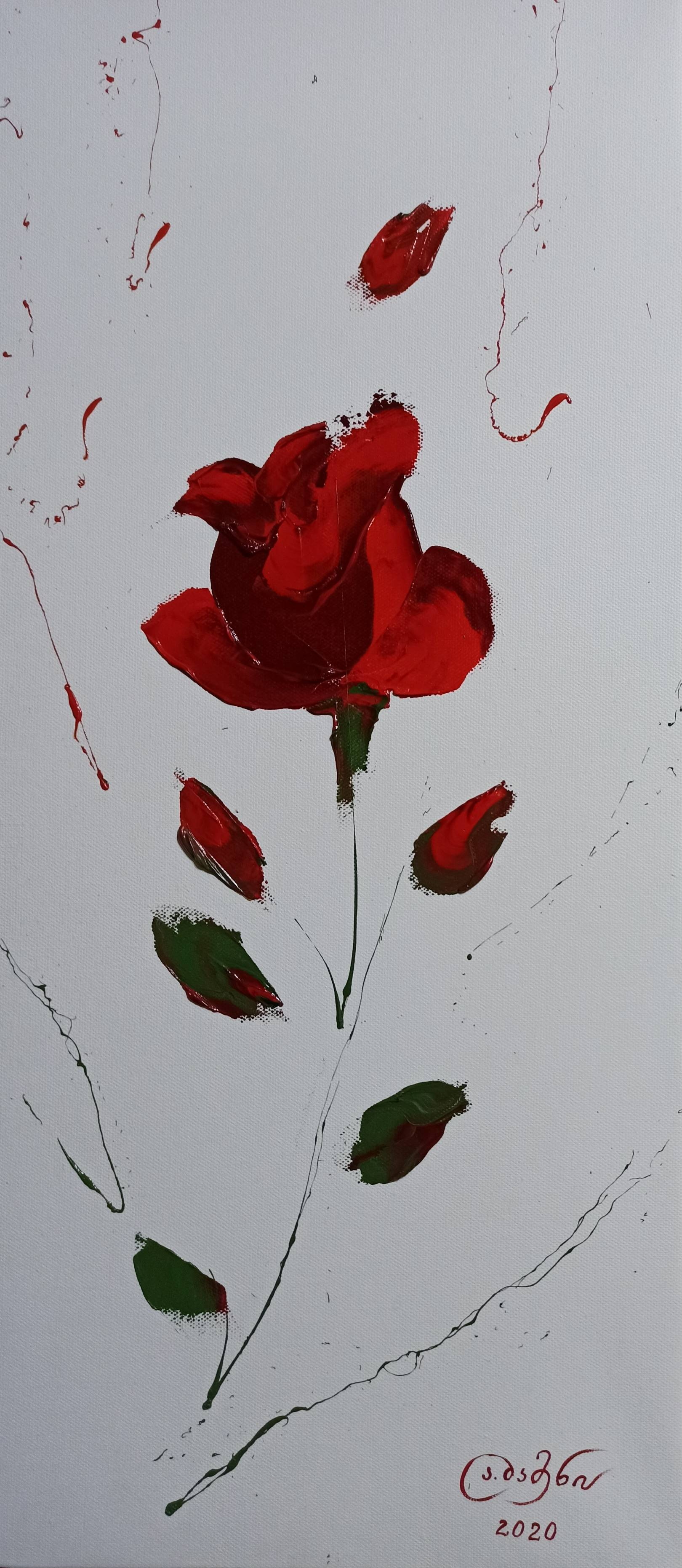 «Роза»       холст, масло «Rose»    oil on canvas    30x70, 2020