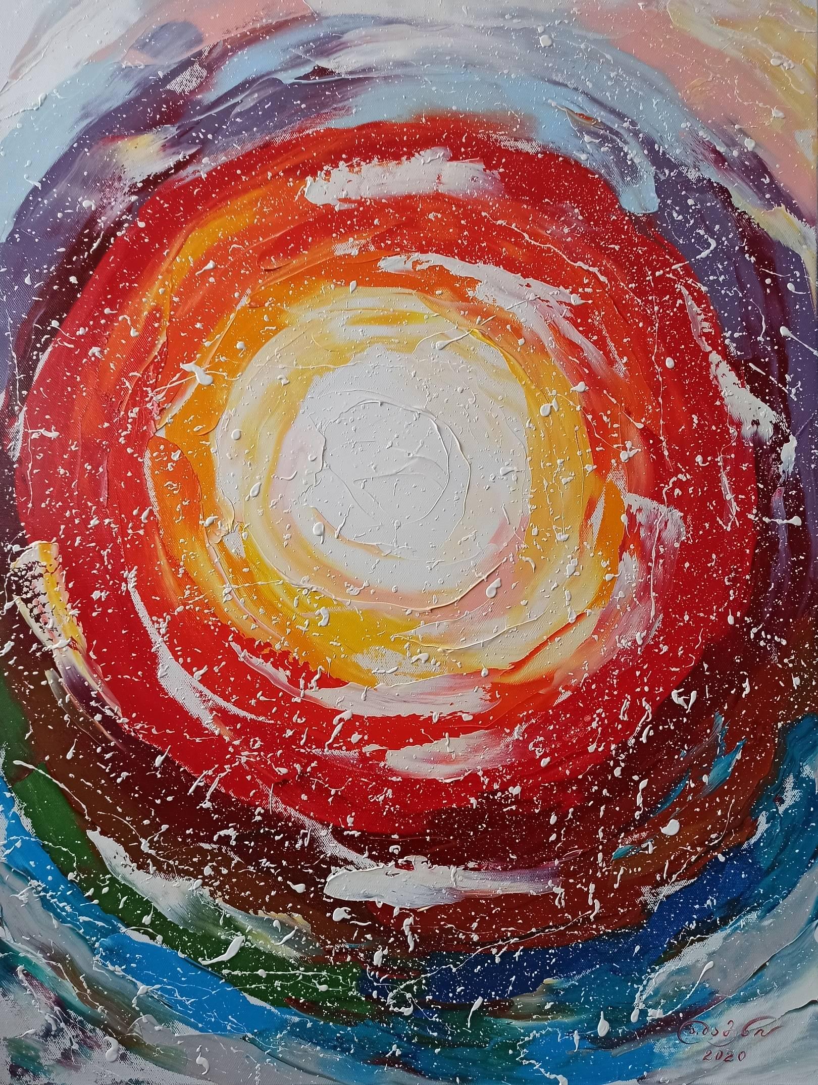 «Космическая пульсация - Сияние» холст, масло «Cosmic Ripple - Radiance» oil on canvas  80x60, 2020