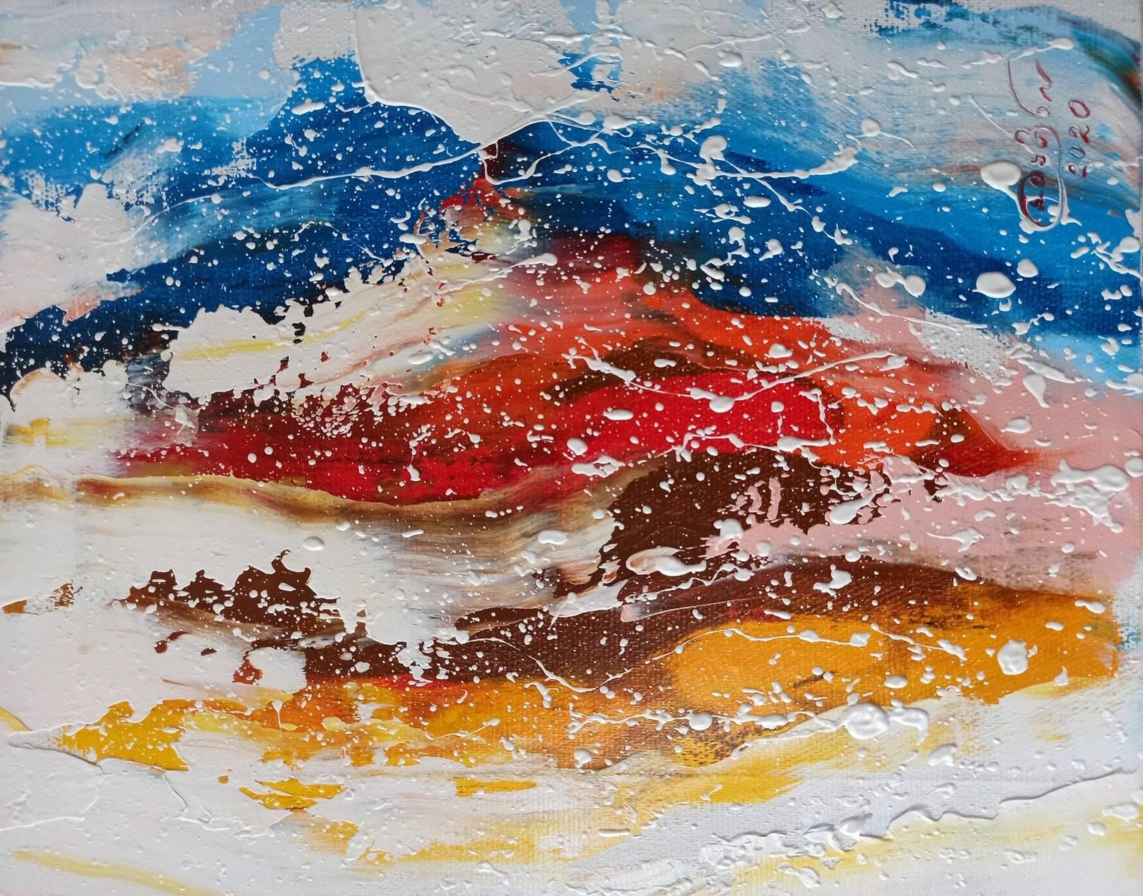 «Пейзаж» холст, масло «Landscape» oil on canvas  24x30, 2020