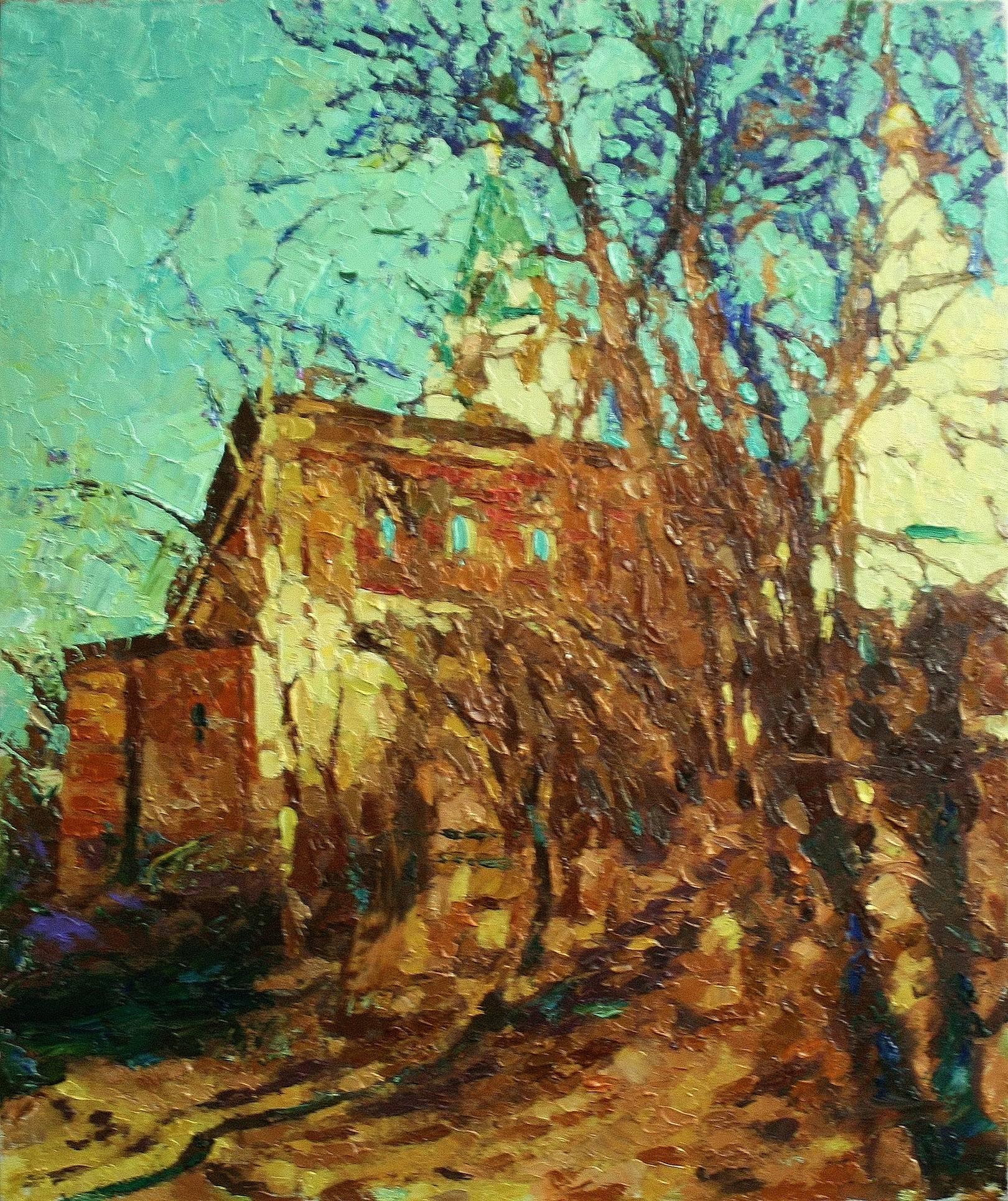 «Дом на Николо-Галейской» холст, масло, 60х50 см, 2020