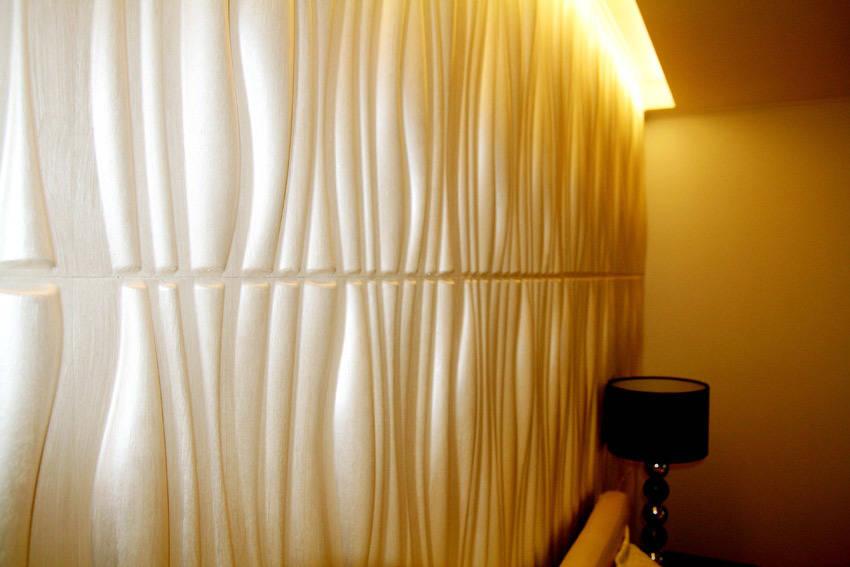 3D стеновые панели бамбук