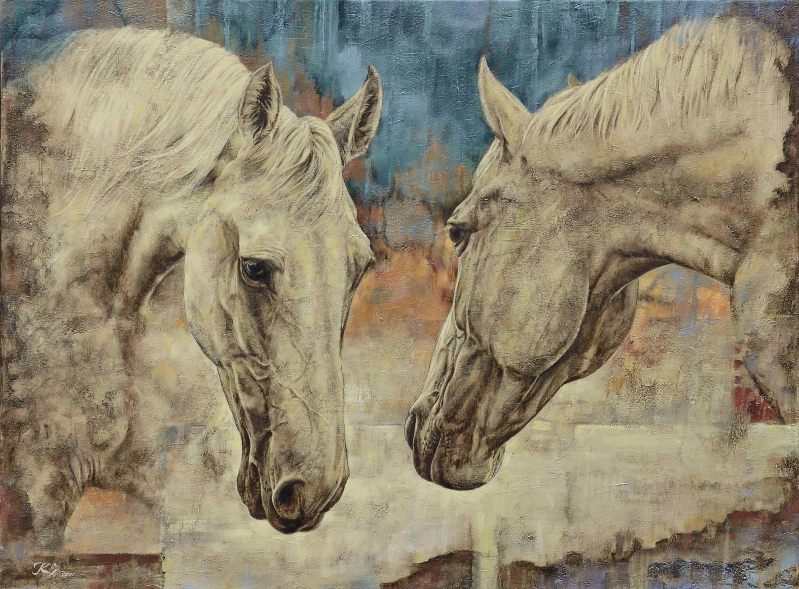 Две лошади. 60х80. Холст, масло