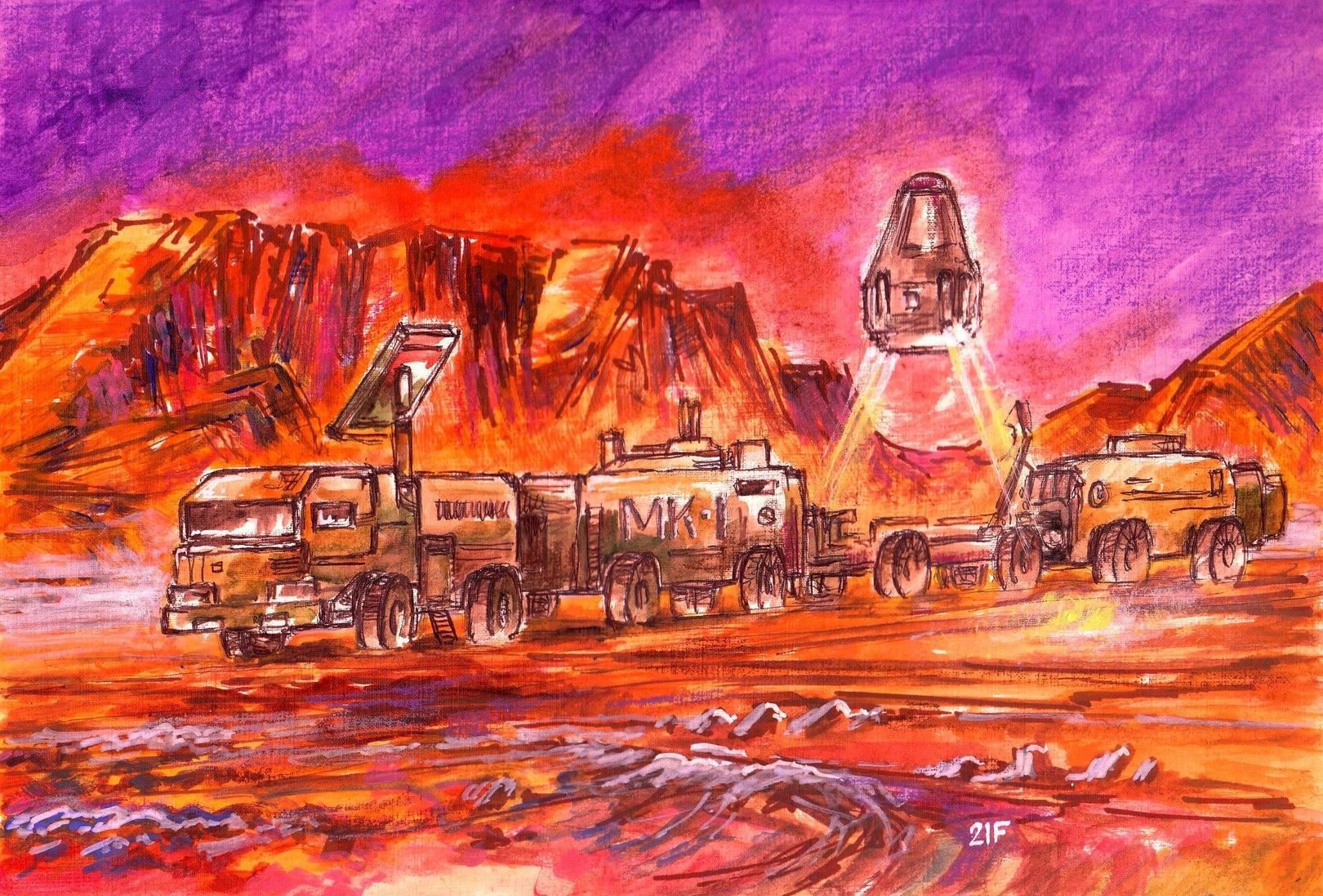 Марсианский мобильный комплекс.Возвращение на орбиту.