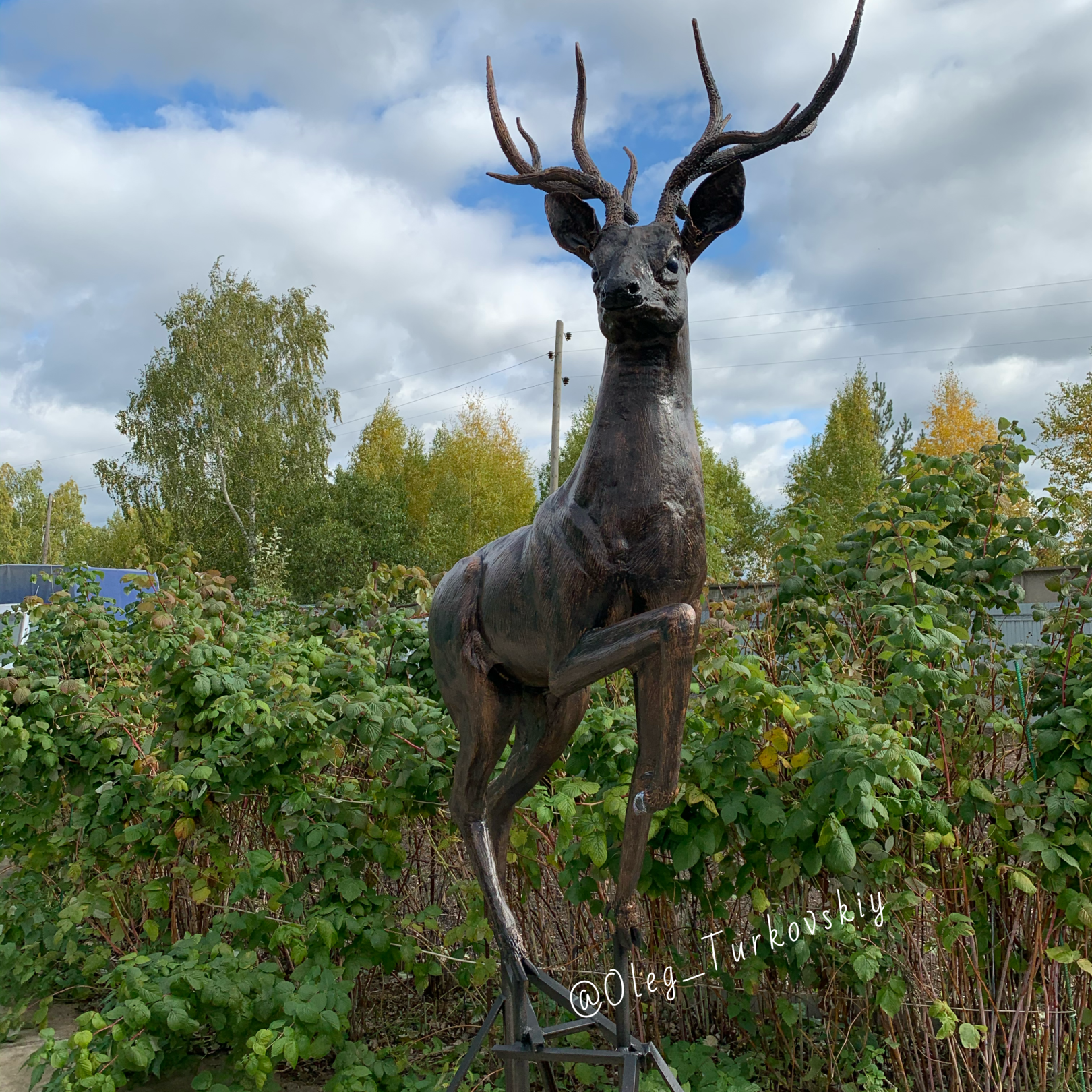 Deer sculpture. From a tale by Bazhov